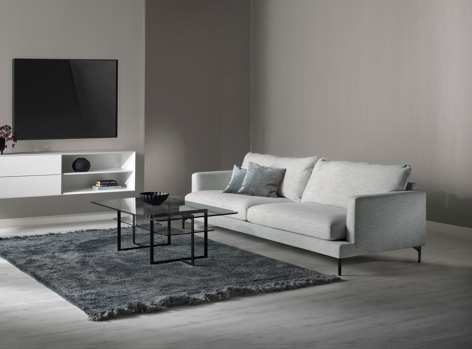Vilma soffa tyg Velly light grey