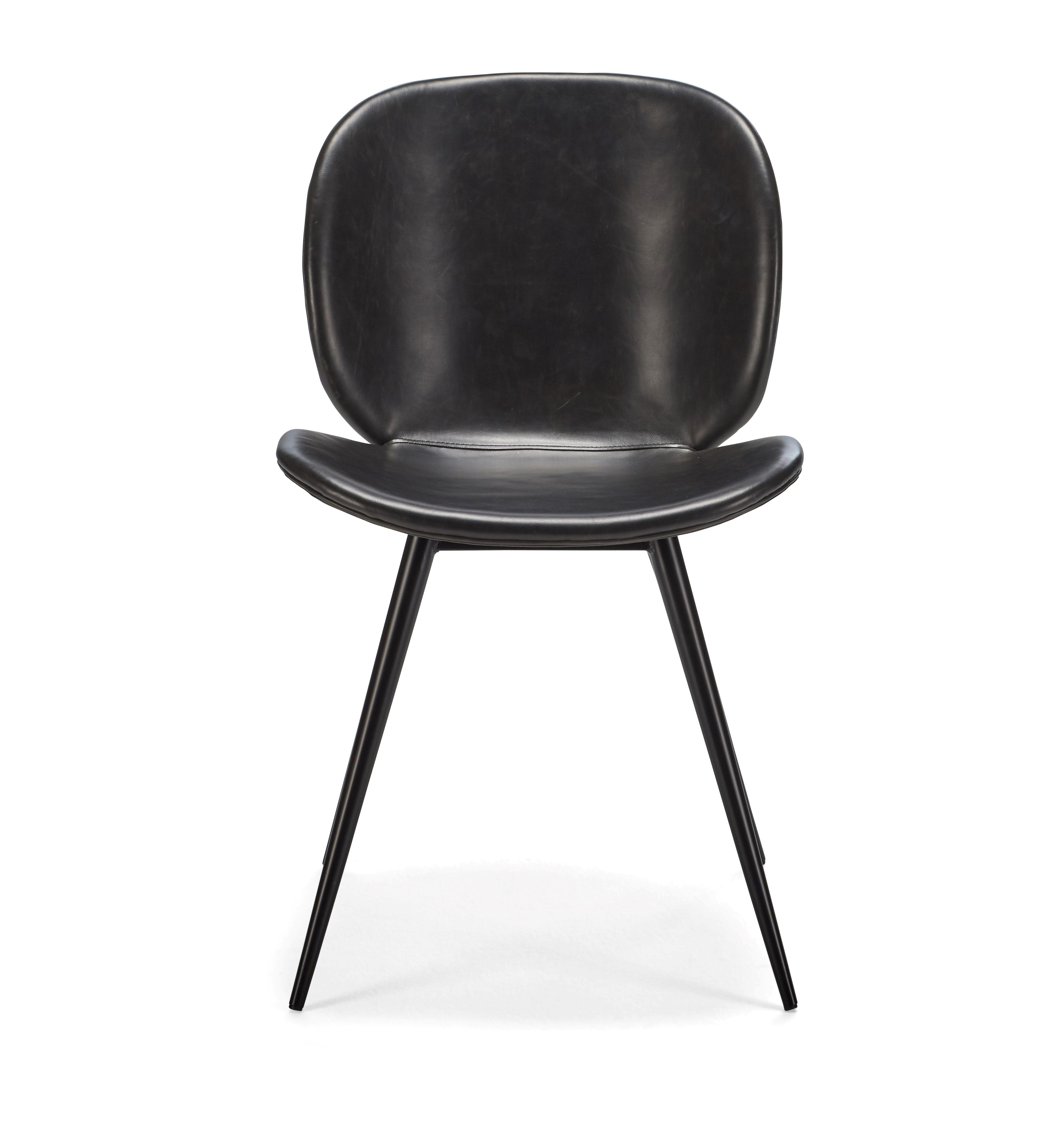 NORDIC retro nordisk designstol med ben i lackad metall